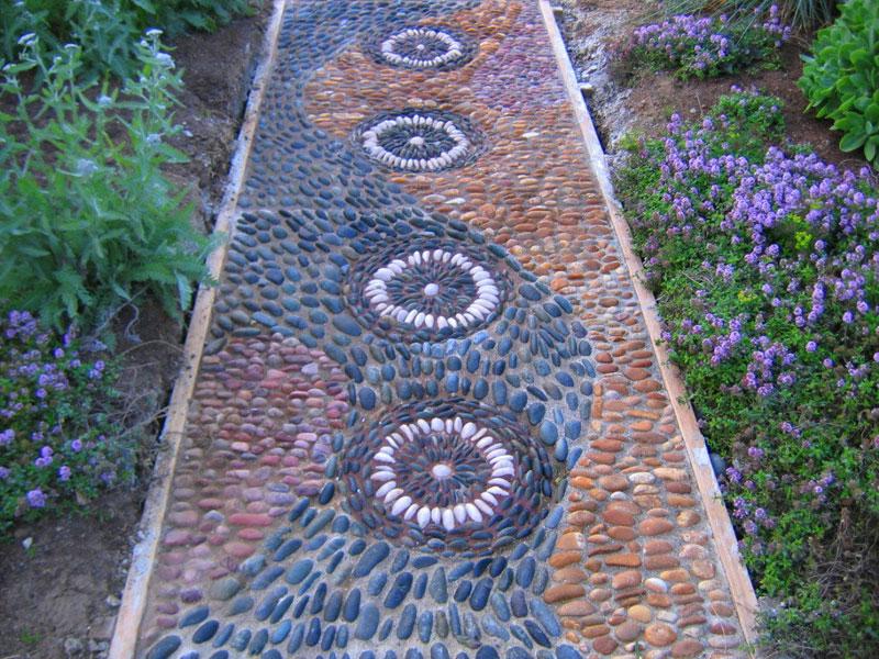 Dr dan 39 s garden tips a stone 39 s throw for Pebble garden designs