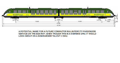 Possible Paint Scheme for Commuter Rail service on the E&N