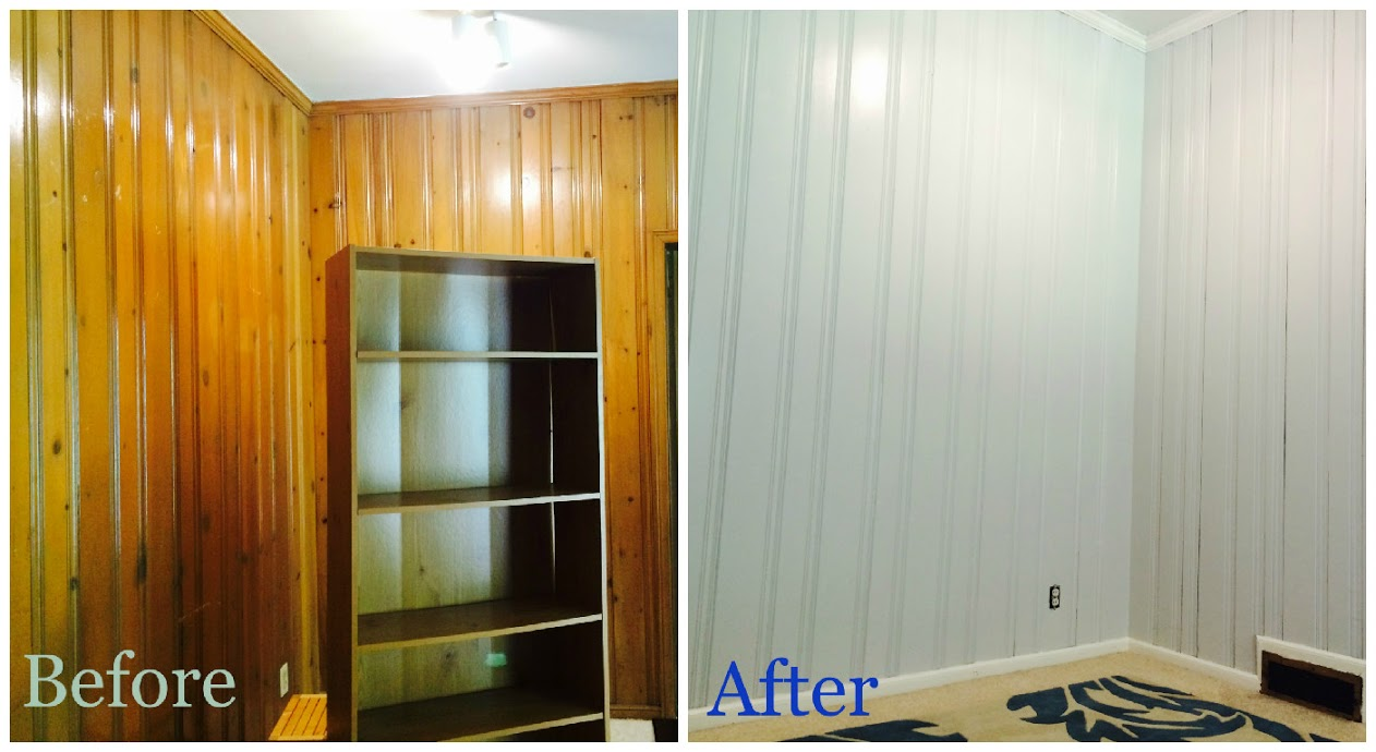 Painting Wood Paneling Before And After Photos WB Designs - Painting Wood Paneling Before And After Photos WB Designs