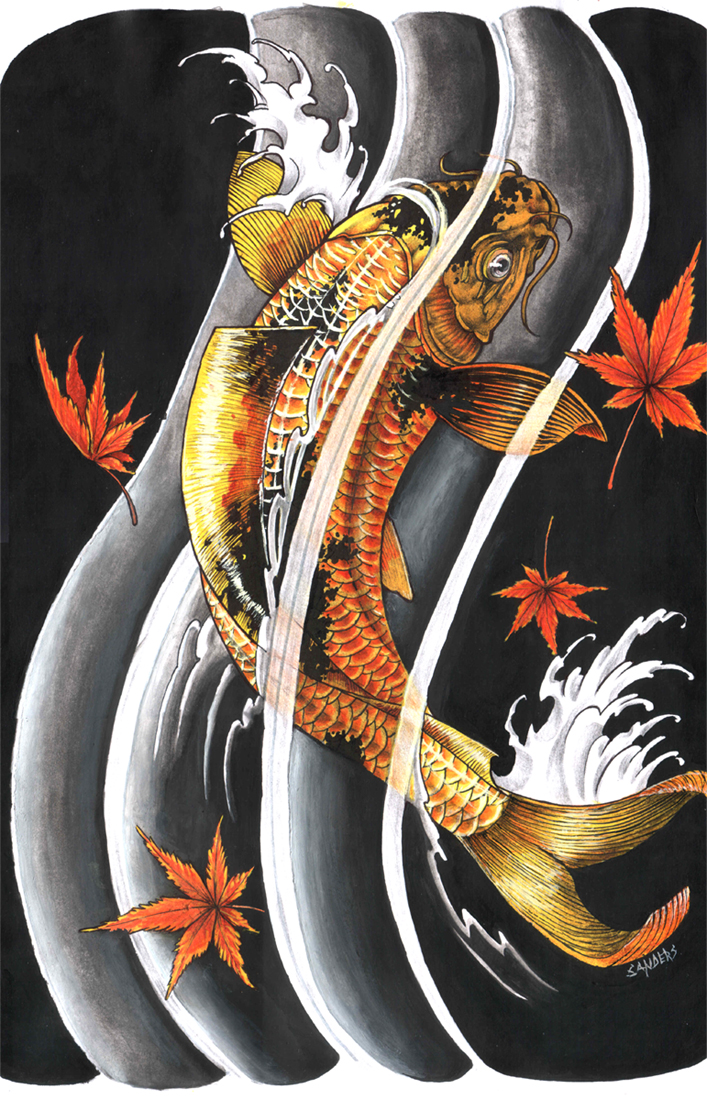 Madskins koi tattoo what does it mean for What does koi mean