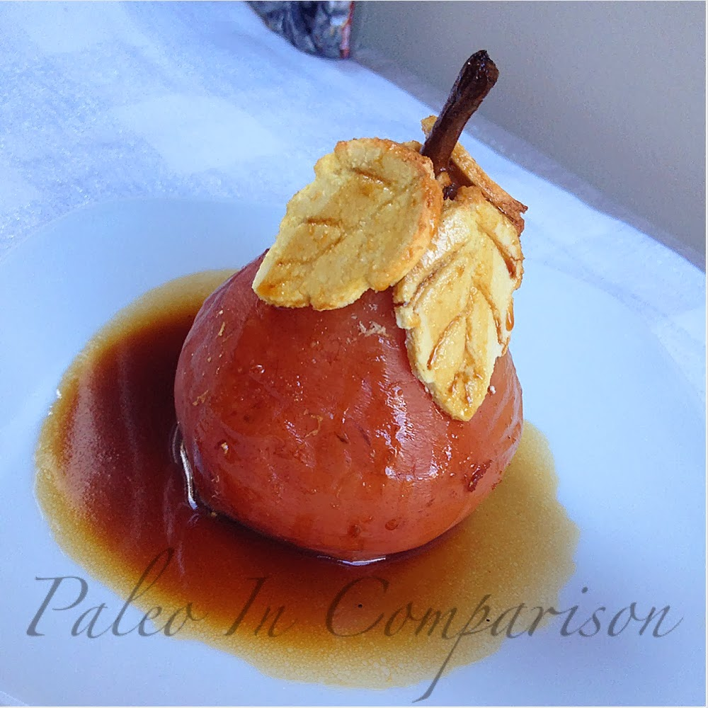 Paleo In Comparison: Champagne Poached Pears with Buttery ...