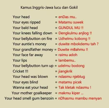 Kamus English - Jawa Lucu Gambar Akurapopo
