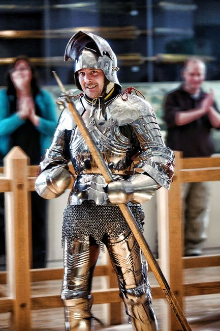 Andrew Balmforth in Armour