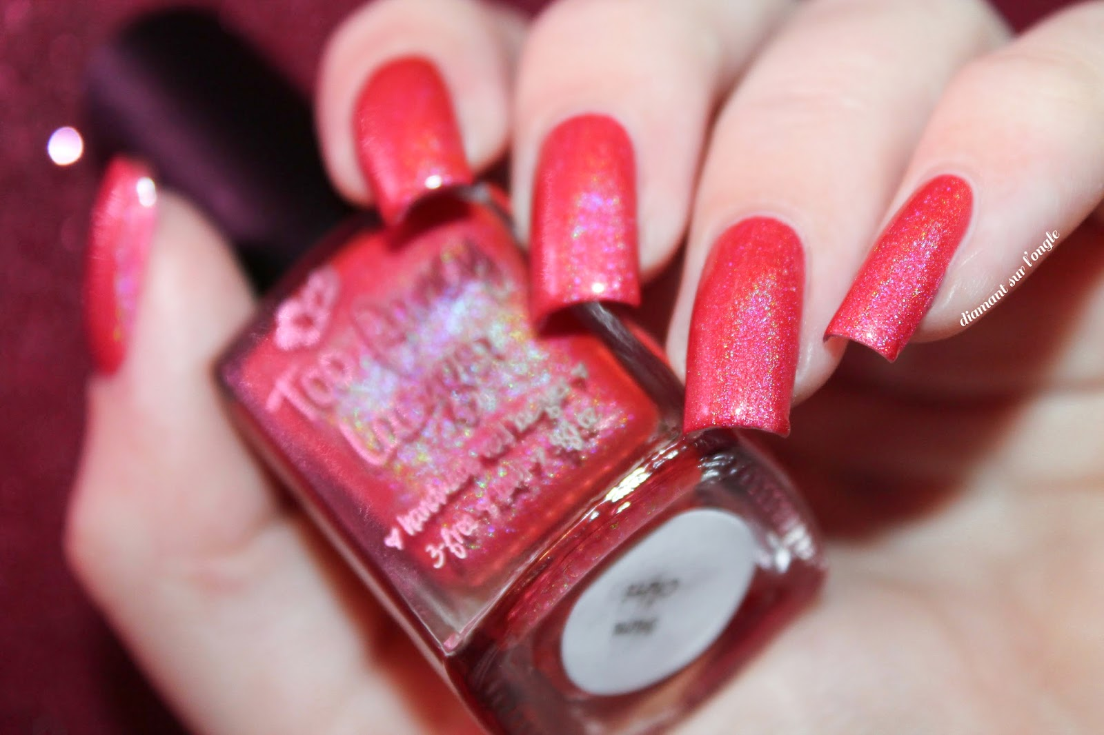 "Swatch of ""Mon Chéri"" from Too Fancy Lacquer"