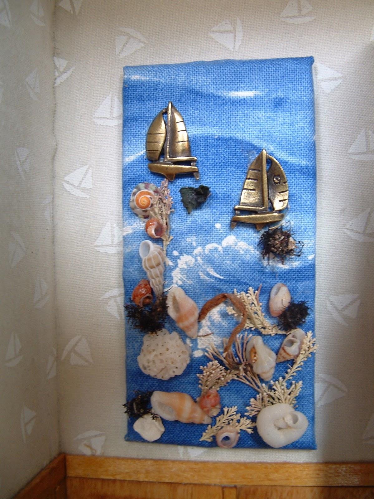 Chris et marc chambre enfant style bateau - Bricolage avec des coquillages ...