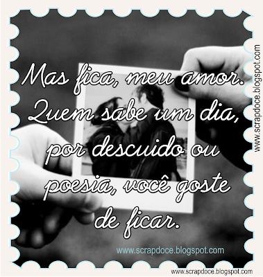 Recadinho de amor com frase de Chico Buarque para compartilhar no Facebook