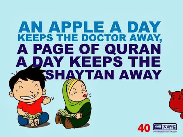 al-quran,keep,syaitan, away,read, quran. daily, doodle, takzirah, islam, quotes,