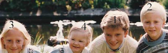 4 des enfants de la princesse Astrid de Belgique et de Lorenz, archiduc d'Autriche-Este