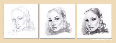 How to draw portrait stages, cross-hatching (by Igor Lukyanov)