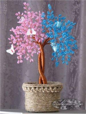 Деревья из бисера примеры