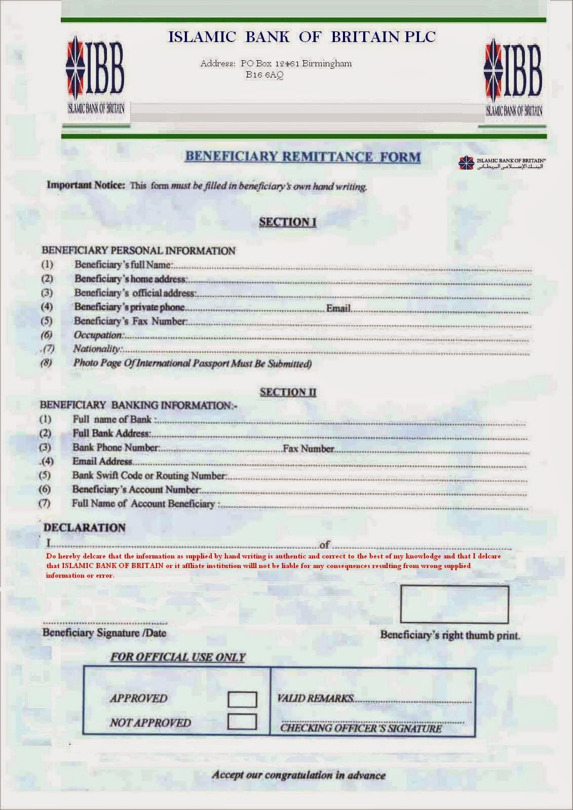 remittance form template .