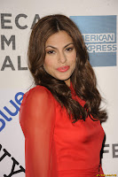 Eva Mendes - Leaves her hotel for the premiere of Last Night