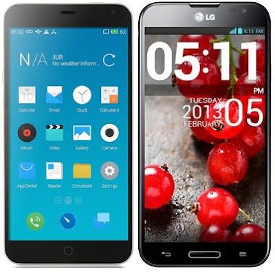 Meizu M1 Note vs LG Optimus G Pro