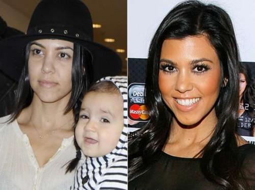 kardashian sans maquillage