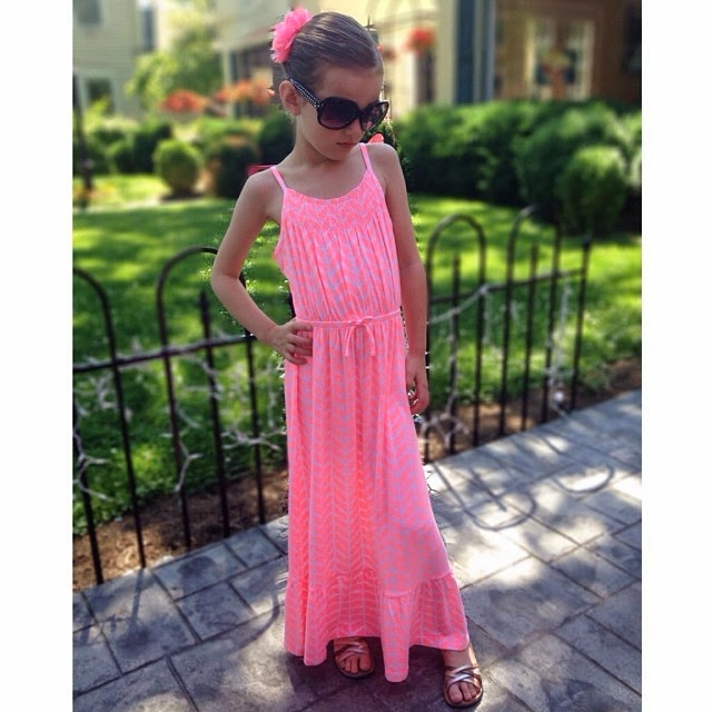 little girl's maxi dress