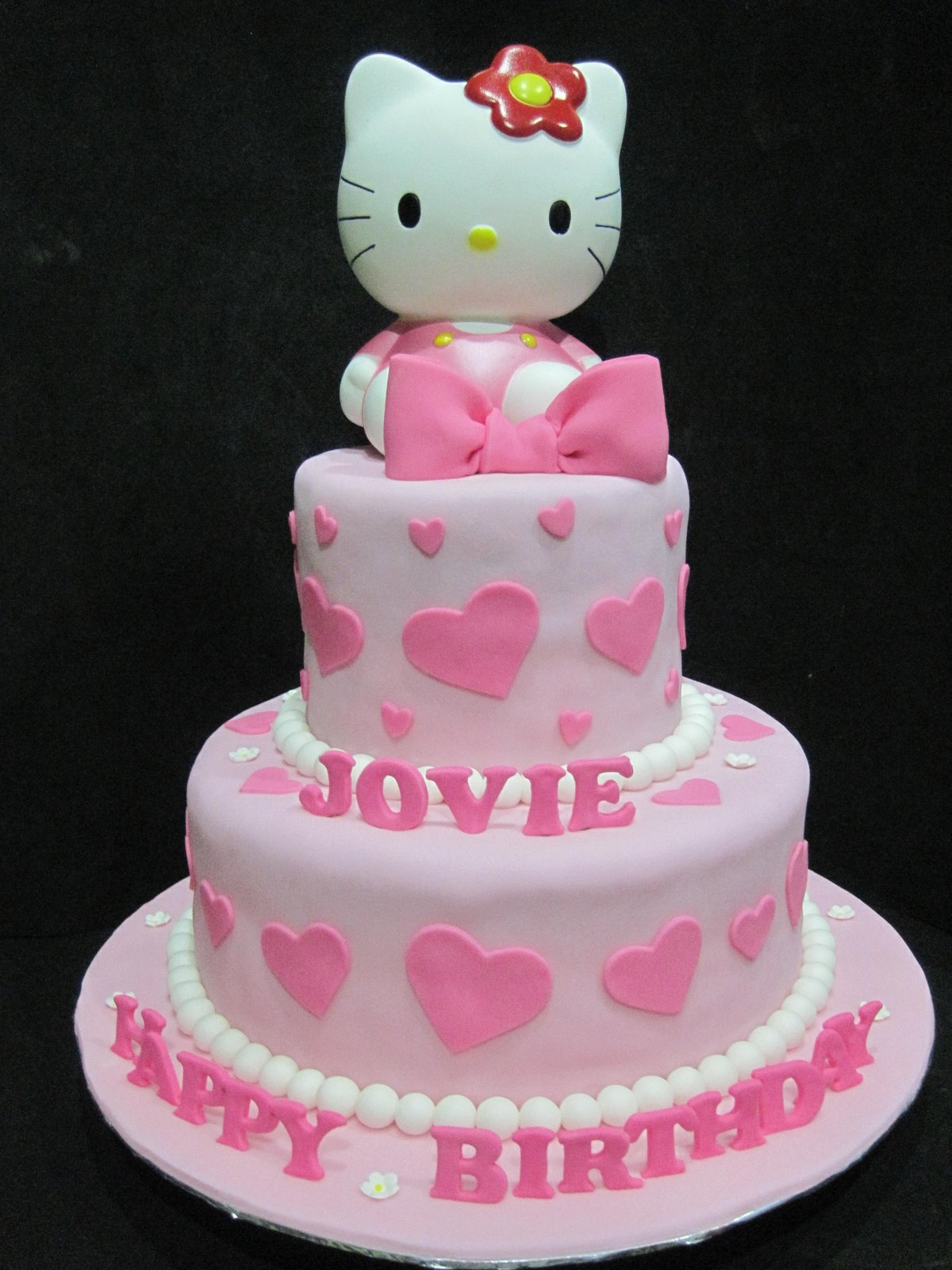 Cupcake Divinity Jovies 2 Tier Hello Kitty Cake