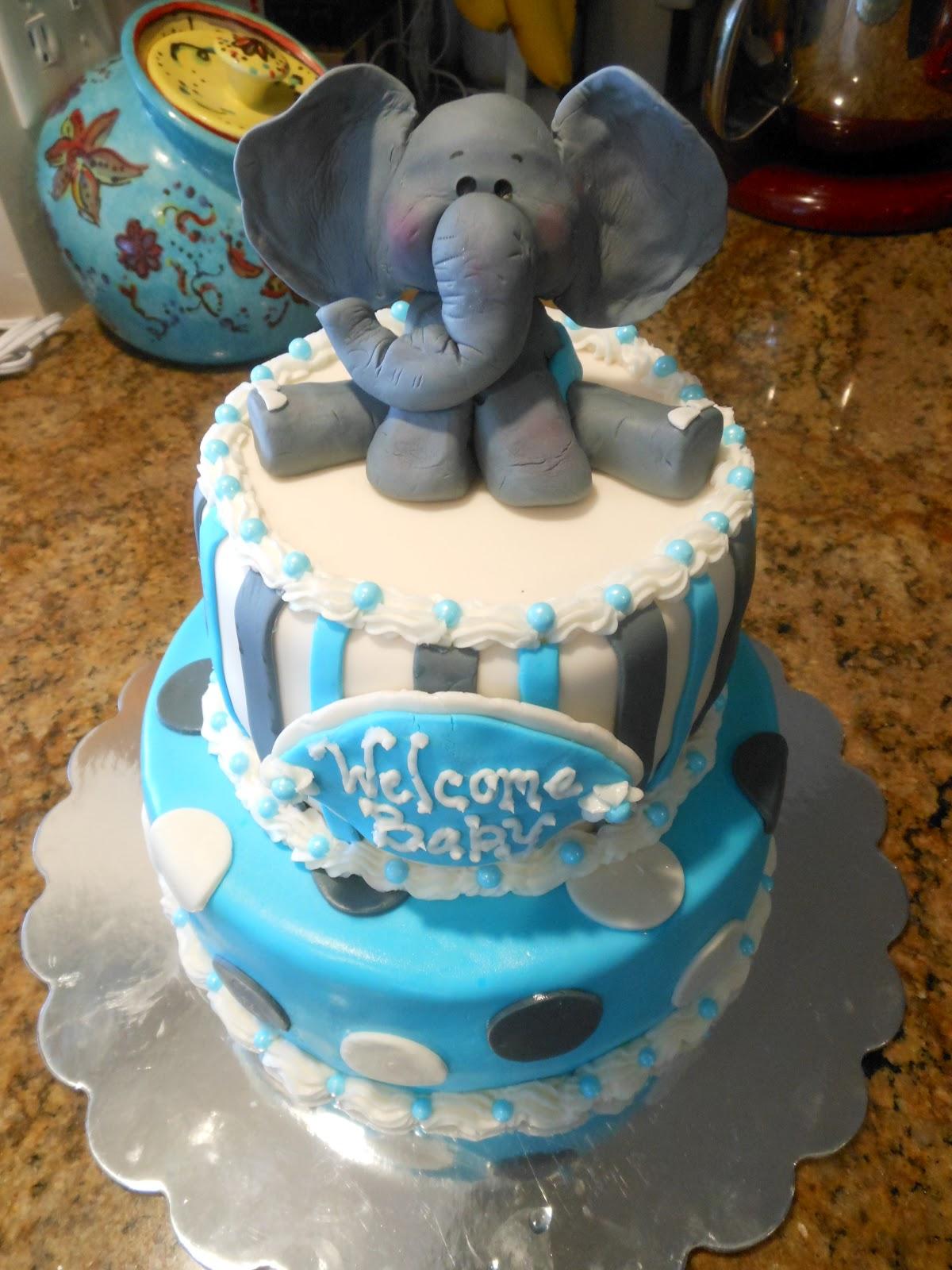 Elephant Baby Shower Cakes Baby Shower Elephant Cake