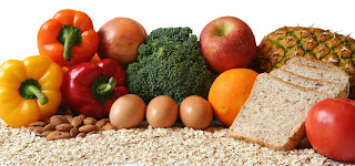 fruits, vegetables and whole grains