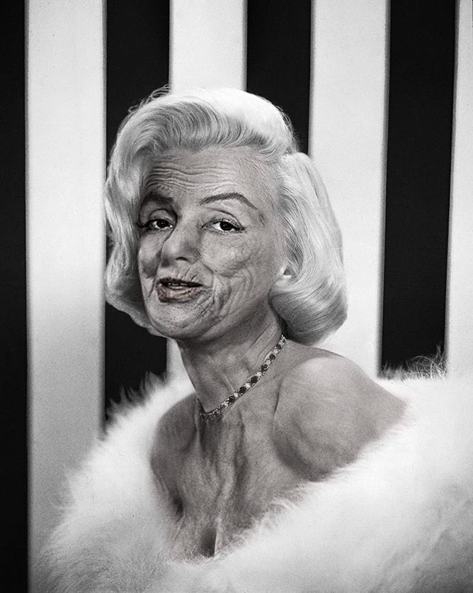 Marilyn Monroe, retoque digital para envejecer su rostro