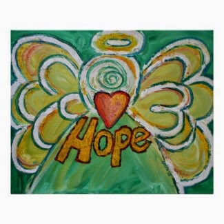 Hope Angel Art Poster Print