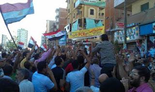 أنصار مرسى ببني سويف : إسلاميه إسلاميه مرسي رئيس ألجمهوريه