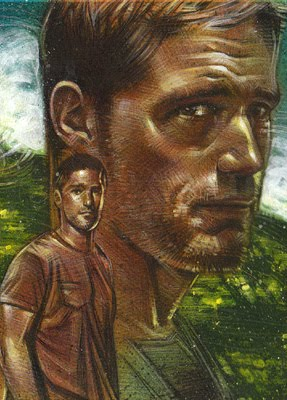 Matthew Fox as Jack Shephard, Original Sketch Card © 2012 Jeff Lafferty