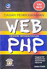 toko buku rahma: buku DASAR PEMROGRAMAN WEB DINAMIS MENGGUNAKAN PHP, pengarang abdul kadir, penerbit andi
