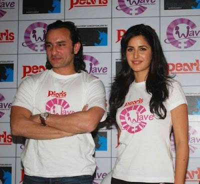 Saif, Katrina and Harman at Waves NGO Press Meet Images
