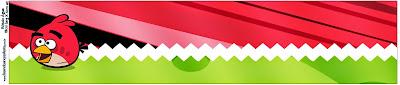 Etiquetas de Angry Birds para imprimir gratis.