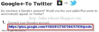 google+ ke twitter