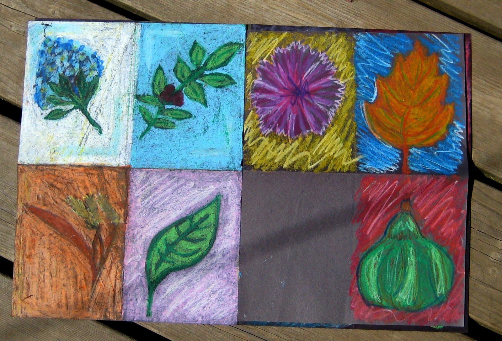 mrs art teacher the bucket day 2 fall oil pastel