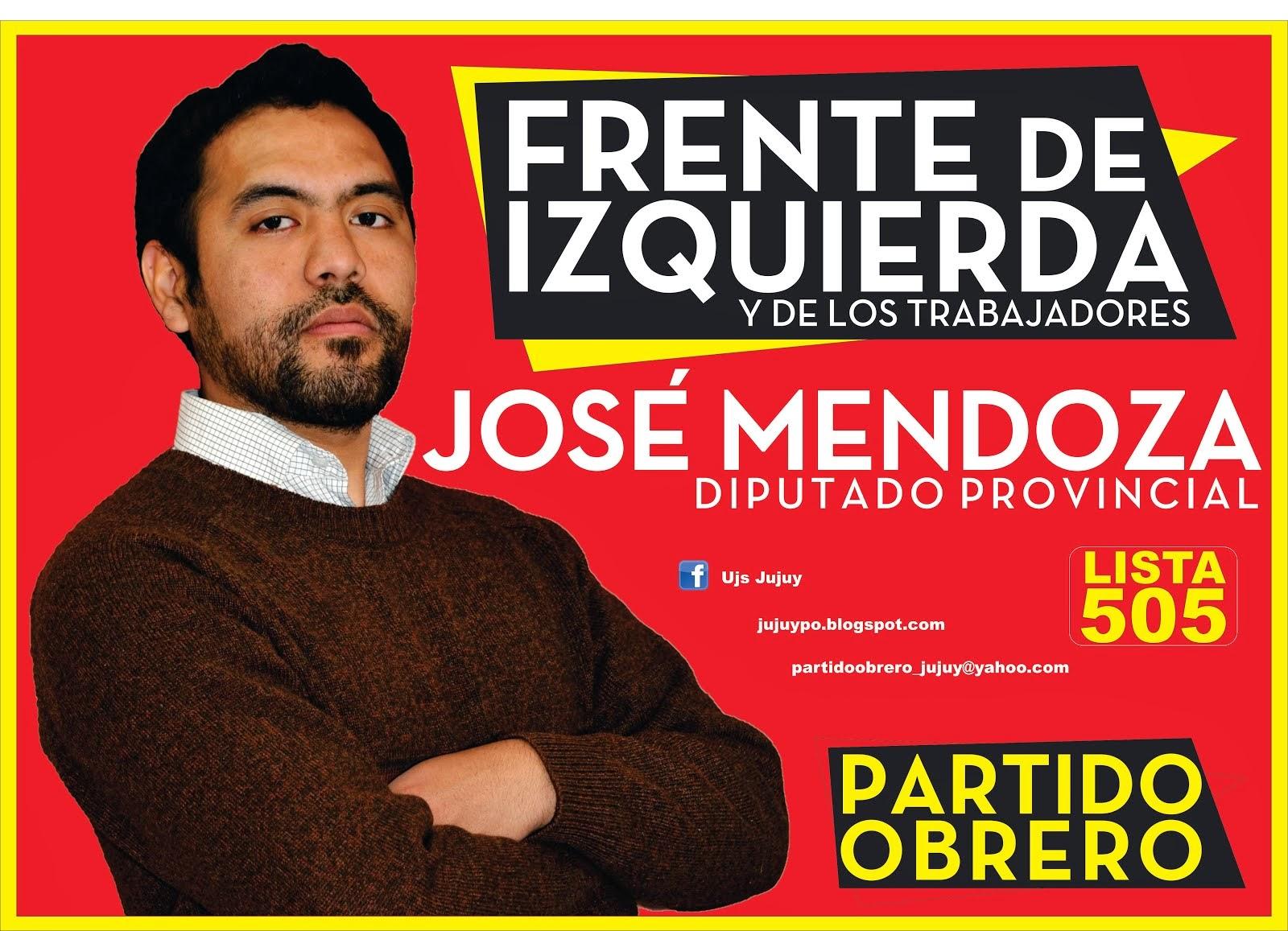 El 27 de Octubre EL FRENTE DE IZQUIERDA a LA LEGISLATURA JUJEÑA