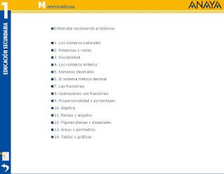 ANAYA 1º ESO ACTIVIDADES INTERACTIVAS