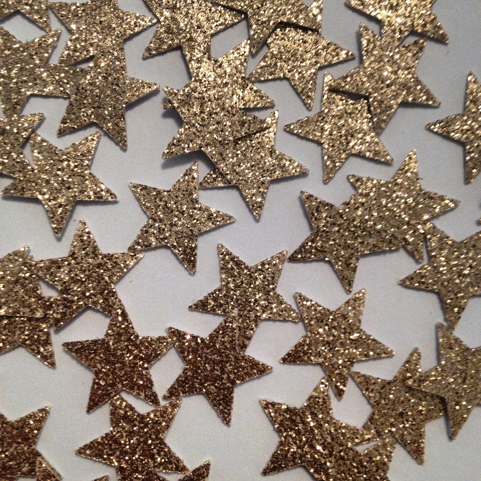 glittery gold stars crafts