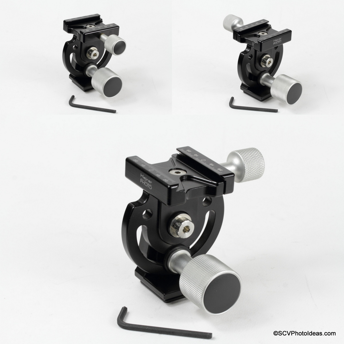 Hejnar Photo MHR1 Head QR clamp mounting orientations