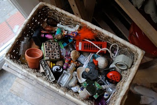 Basket of random bits and bobs to fill printers tray