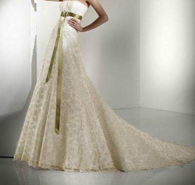 wedding dress, dantel