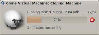 Progress cloning