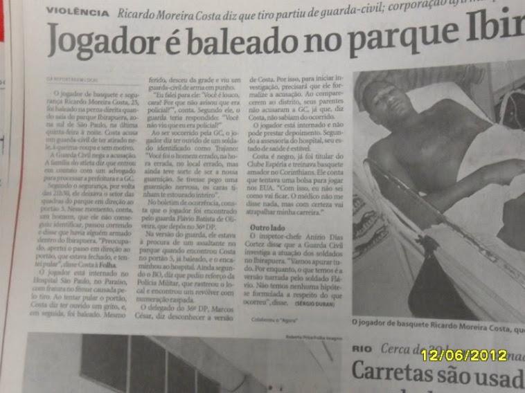 Sou modelo do Jornal Folha de São Paulo