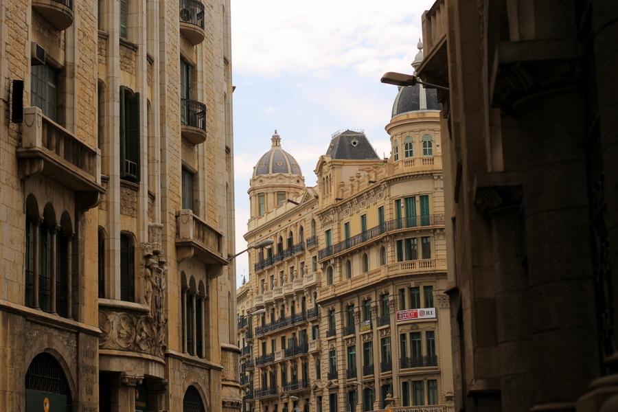 look en ciudad de barcelona