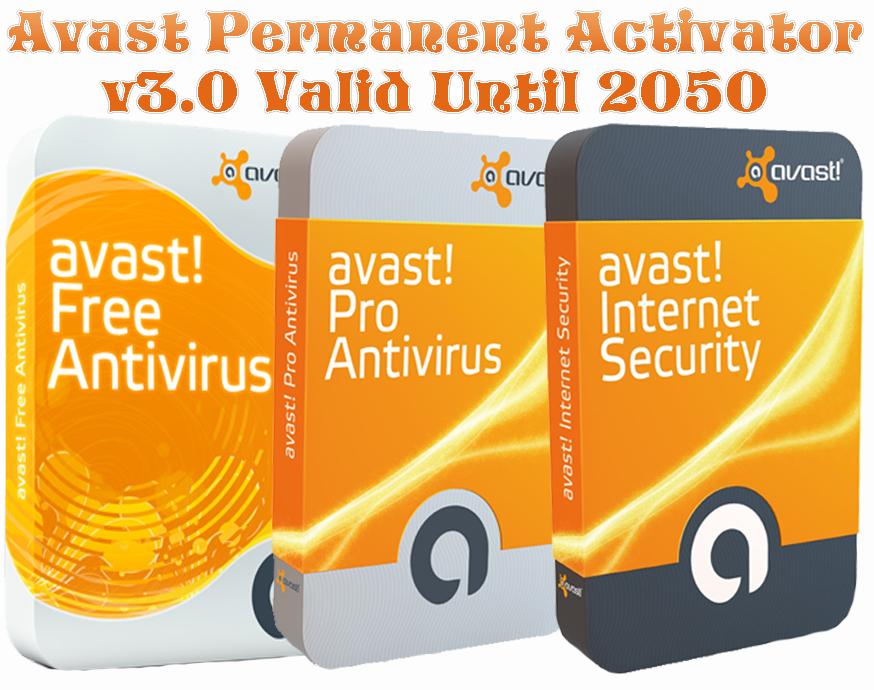 Avast permanent activator v5.0 valid until 2050 final