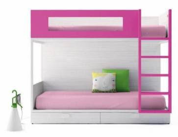 Litera blanca infantil estilo rom ntico con 2 camas y cajones abajo tambi n disponible con una - Literas blancas ...