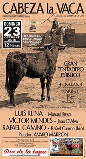 CABEZA LA VACA (BADAJOZ) 23-10-2016. GRAN TENTADERO PÚBLICO A LAS 12 HORAS.