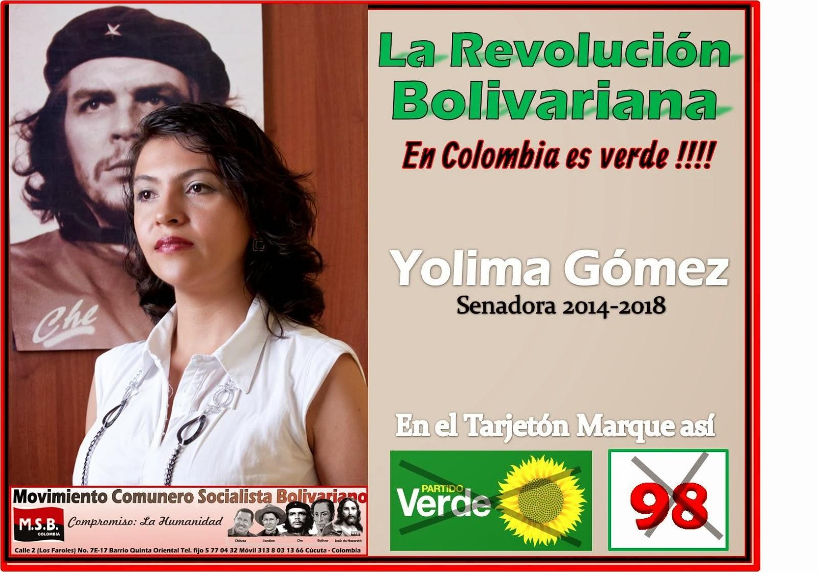 La Revolución Bolivariana en Colombia es Verde !!!!