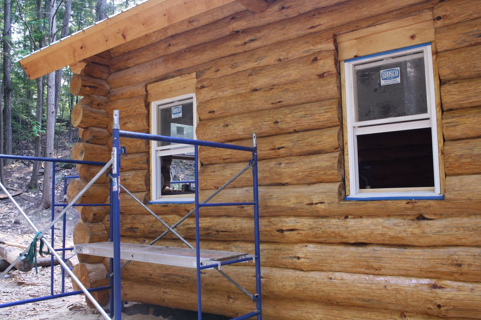 Rebuilding titcomb cabin for Windows for log cabins
