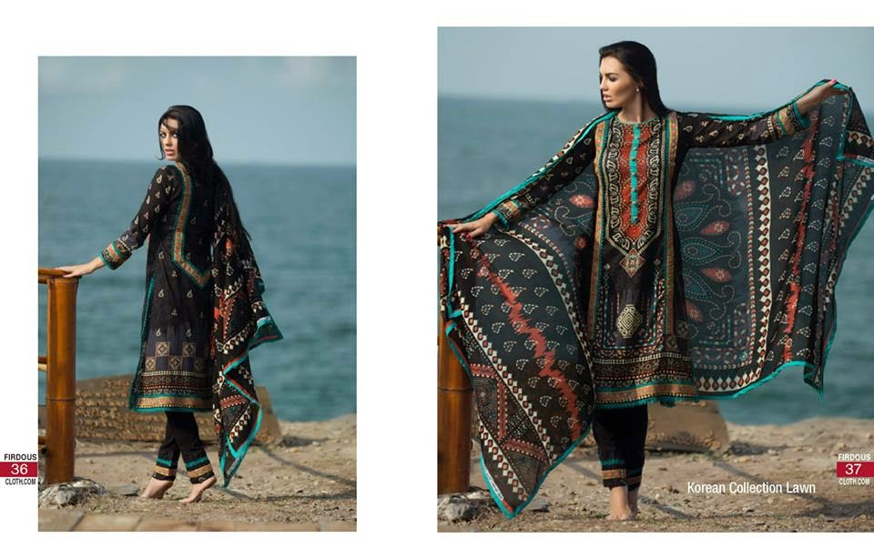 Firdous 2015 Korean summer lawn dresses