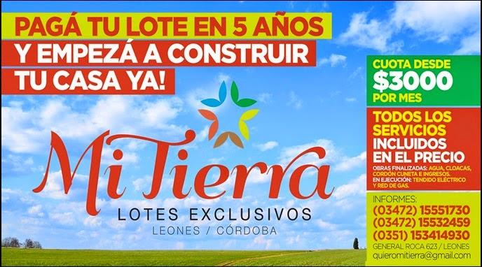 """ESPACIO PUBLICITARIO: TERRENOS """"MI TIERRA"""""""