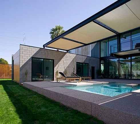 Small Home Ideas on Modern Rectangular Private Pool