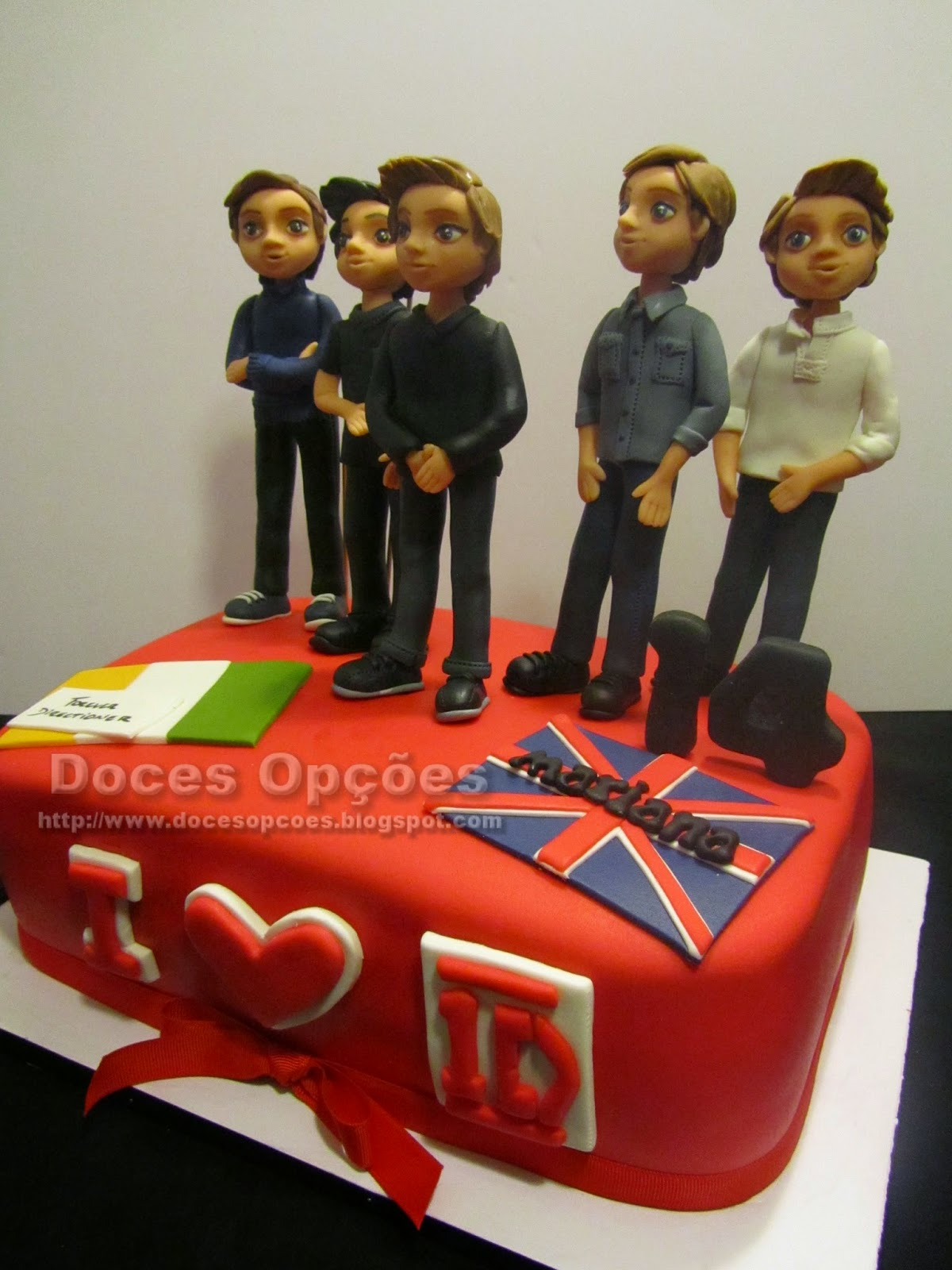 bolos decorados musicos one direction
