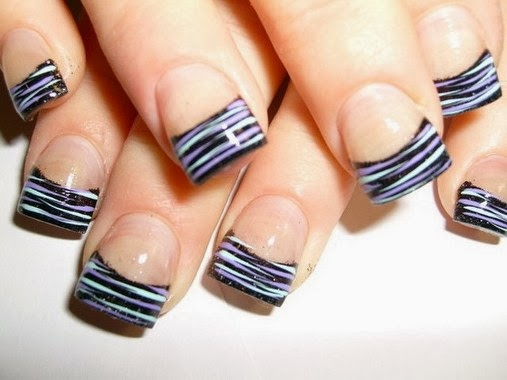 Amazing Zebra Nail Tips Designs